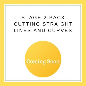 Stage 2 Cutting straight lines and curves Yellow